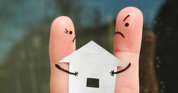 what happens to the house during a divorce